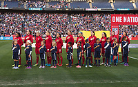 San Diego, CA - January 21, 2018: The USWNT defeated Denmark 5-1 during an international friendly at SDCCU Stadium.
