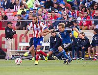 San Francisco, California - Sunday, July 27, 2014: Atletico Madrid and San Jose Earthquakes during a Copa Euroamericana match at Candlestick Park