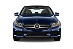 Car photography straight front view of a 2017 Mercedes Benz C Class 300 4 Door Sedan