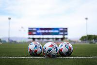 SAN JOSE, CA - MAY 15: MLS Adidas ball at Pay Pal Park before a game between Portland Timbers and San Jose Earthquakes at PayPal Park on May 15, 2021 in San Jose, California.