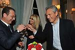 GIORGIO MULE', ROMANA LIUZZO E FRANCESCO RUTELLI<br /> PREMIO GUIDO CARLI - SECONDA EDIZIONE<br /> RICEVIMENTO A CASINA VALADIER ROMA 2011