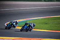 VALENCIA, SPAIN - NOVEMBER 8: Andrea Migno and Nicolo Bulega during Valencia MotoGP 2015 at Ricardo Tormo Circuit on November 8, 2015 in Valencia, Spain