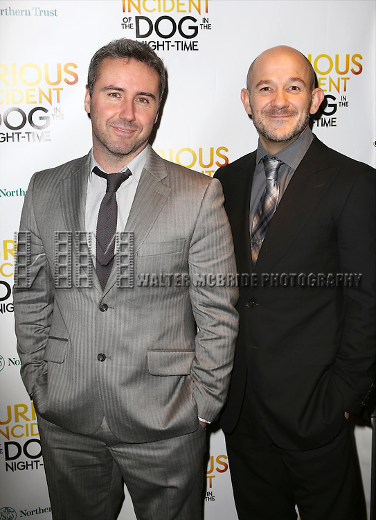 Scott Graham and Steven Hoggett attends the Broadway Opening Night Performance After Party for 'The Curious Incident of the Dog in the Night-Time'  at Urbo on October 5, 2014 in New York City.