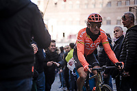 Greg VAN AVERMAET (BEL/CCC) leaving the Plaza del Campo post-finish <br /> <br /> 13th Strade Bianche 2019 (1.UWT)<br /> One day race from Siena to Siena (184km)<br /> <br /> ©kramon