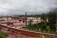 Bacia de rejeitos da Hydro, Depósito de Resíduo Sólido 2 - DRS2,  apontado como um dos depósitos que transbodaram durante fortes chuvas na região atingindo as comunidades próximas.<br /> Foto Maycon Nunes <br /> 25/02/2018