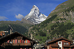 View from our room of the Matterhorn in Zermatt, Switzerland.