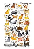 Kate, GIFT WRAPS, GESCHENKPAPIER, PAPEL DE REGALO, paintings+++++Jigsaw cats,GBKM330,#gp#, EVERYDAY ,sticker,stickers