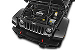 Car Stock 2017 JEEP Wrangler-Unlimited Rubicon-Hard-Rock 5 Door SUV Engine  high angle detail view