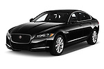 2020 Jaguar XF Premium 4 Door Sedan angular front stock photos of front three quarter view