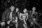 OTTAVIO MISSONI CON KRIZIA, PATRIZIA REGGIANI GUCCI E DANIELA MORERA<br /> PREMIO THE BEST RAINBOW ROOM ROCKFELLER CENTER NEW YORK 1982