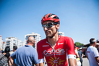 Castellon, SPAIN - SEPTEMBER 7: Cofidis biker during LA Vuelta 2016 on September 7, 2016 in Castellon, Spain