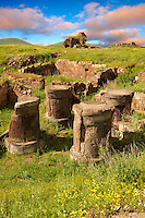 Ruins of a Zoroastrian Fire Temple at Ani archaelogical site on the Ancient Silk Road , Kars , Anatolia, Turkey