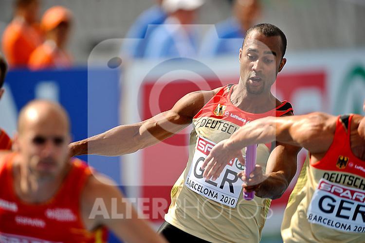 31.07.2010, Olympic Stadium, Barcelona, ESP, European Athletics Championships Barcelona 2010, im Bild Marius Broening . GER Foto: nph /  Ronald Hoogendoorn
