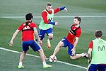 Spain's Isco Alarcon, Gerard Deulofeu and Asier Illarramendi during training session. March 20,2017.(ALTERPHOTOS/Acero)