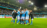 MFF-AIK, Allsvenskan 10282019. MFF's players celebrate the win vs AIK.