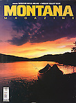Nelson Kenter photo of a canoe on the shore of the Missouri River at sunset in Montana used on magazine cover