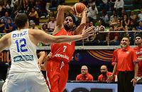MEDELLÍN - COLOMBIA, 25-08-2017: Jorge GUTIERREZ de Mexico en acción durante el partido entre Puerto Rico y Mexico de la fase de grupos, grupo A, de la FIBA AmeriCup 2017 jugado en el coliseo Iván de Bedout de la ciudad de Medellín.  El AmeriCup 2017 se juega  entre el 25 de agosto y el 3 de septiembre de 2017 en Colombia, Argentina y Uruguay. / Jorge GUTIERREZ from Mexico in action  during the match between Puerto Rico and Mexico of the group stage Group A of the FIBA AmeriCup 2017 played at Ivan de Bedout  coliseum in Medellin. The AmeriCup 2017 is played between August 25 and September 3, 2017 in Colombia, Argentina and Uruguay. Photo: VizzorImage / León Monsalve / Cont