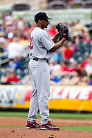 Trevor Reckling (30) of the Arkansas Travelers on the mound during a game against the Springfield Cardinals on May 10, 2011 at Hammons Field in Springfield, Missouri.  Photo By David Welker/Four Seam Images.