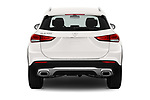 Straight rear view of 2021 Mercedes Benz GLA GLA250 5 Door SUV Rear View  stock images