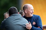 St Johnstone v Sunderland…15.07.17… McDiarmid Park… Pre-Season Friendly<br />Callum Davidson and Simon Grayson hug at full time<br />Picture by Graeme Hart.<br />Copyright Perthshire Picture Agency<br />Tel: 01738 623350  Mobile: 07990 594431