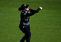 NZ's Amy Satterthwaite catches Sarah Dunkley during the 3rd international women's T20 cricket match between the New Zealand White Ferns and England at Sky Stadium in Wellington, New Zealand on Sunday, 7 March 2021. Photo: Dave Lintott / lintottphoto.co.nz
