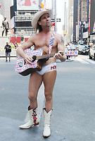 MAY 26 The Naked Cowboy seen at Times Square
