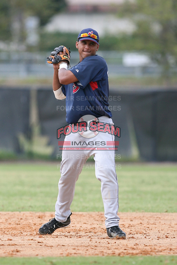 March 20th 2008:  Karexon Sanchez of the Cleveland Indians minor league system during Spring Training at Chain of Lakes Training Complex in Winter Haven, FL.  Photo by:  Mike Janes/Four Seam Images