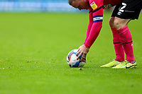 3rd October 2020; Carrow Road, Norwich, Norfolk, England, English Football League Championship Football, Norwich versus Derby; Wayne Rooney of Derby County places the ball before taking a free kick