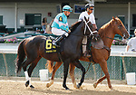 June 26,, 2021: #6 Warrior's Charge and Florent Geroux in the Stephen Foster Grade 2  at Churchill Downs.  Louisville, KY on June 26, 2021.  Candice Chavez/ESW/CSM