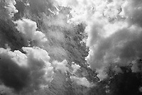 Summer clouds in infrared.<br /> <br /> Nikon F3HP, 24mm lens, Kodak High Speed Infrared film, red filter