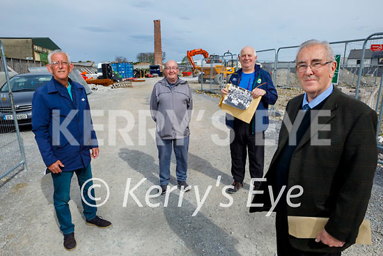 Standing at the Denny's site at the Island of Geese on Friday. Front right: Kevin O'Connor. Back l to r: Cllr Sam Locke, John Brosnan and Michael Rossa Donovan.