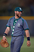 Saint Leo Lions first baseman Troy Sieber (22) during a game against the Northwestern Wildcats on March 4, 2016 at North Charlotte Regional Park in Port Charlotte, Florida.  Saint Leo defeated Northwestern 5-3.  (Mike Janes/Four Seam Images)