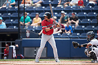 Derek Dietrich (56) of the Rochester Red Wings at bat against the Scranton/Wilkes-Barre RailRiders at PNC Field on July 25, 2021 in Moosic, Pennsylvania. (Brian Westerholt/Four Seam Images)