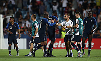 Football: Uefa under 21 Championship 2019, England - France, Dino Manuzzi stadium Cesena Italy on June18, 2019.<br /> France''s players celebrate after winning 2-1 the Uefa under 21 Championship 2019 football match between England and France at Dino Manuzzi stadium in Cesena, Italy on June18, 2019.<br /> UPDATE IMAGES PRESS/Isabella Bonotto