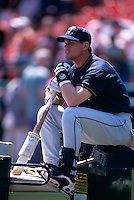 SAN FRANCISCO, CA:  Craig Biggio of the Houston Astros before a game against the San Francisco Giants at Candlestick Park in San Francisco, California in 1999. (Photo by Brad Mangin)