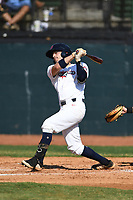Brian Perez (23) (Bethune Cookman) of the Bristol State Liners during a game against the Kingsport Axemen on June 13, 2021 at Boyce Cox Field in Bristol, Virginia. (Tracy Proffitt/Four Seam Images)