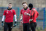 St Johnstone Training…. 09.12.20<br />Zander Clark pictured with Elliott Parish and Ross Sinclair during training ahead of Saturdays home game against Livingston.<br />Picture by Graeme Hart.<br />Copyright Perthshire Picture Agency<br />Tel: 01738 623350  Mobile: 07990 594431