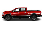 Car Driver side profile view of a 2021 Nissan Titan-XD Platinum-Reserve 4 Door Pick-up Side View