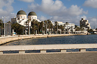 Benghazi, Libya, North Africa -- Water Front, Former Catholic Cathedral, now deconsecrated.