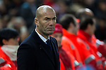 Real Madrid's coach Zinedine Zidane during the match of La Liga between Atletico de Madrid and Real Madrid at Vicente Calderon Stadium  in Madrid , Spain. November 19, 2016. (ALTERPHOTOS/Rodrigo Jimenez)