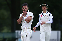 Frustration for Z Shahzad of Wanstead during Wanstead and Snaresbrook CC (fielding) vs Brentwood CC, Hamro Foundation Essex League Cricket at Overton Drive on 19th June 2021