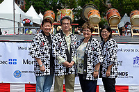 August 11 2012 - Montreal (Qc) Canada - Matsuri Japon Festival 11th edition.<br /> <br /> Official photo at the opening ceremony (L to R):<br /> Alan Itakura, President, JCCCM,<br /> Tatsuo Arai, Consul General du Japon,Mary Deros, Conseillere municipale, Villeray-Saint-Michel-Parc-Extension,<br />  Jennifer Sakai, President, Matsuri Japon<br /> <br /> <br /> Matsuri Japon is a free event promoting Japanese culture to the general public.