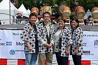 August 11 2012 - Montreal (Qc) Canada - Matsuri Japon Festival 11th edition.<br /> <br /> Official photo at the opening ceremony (L to R):<br /> Alan Itakura, President, JCCCM,<br /> Tatsuo Arai, Consul General du Japon,Mary Deros, Conseillere municipale, Villeray-Saint-Michel-Parc-Extension,<br />  Jennifer Sakai, President, Matsuri Japon<br /> <br /> <br /> Matsuri Japon is a free event promoting Japanese culture to the general public.