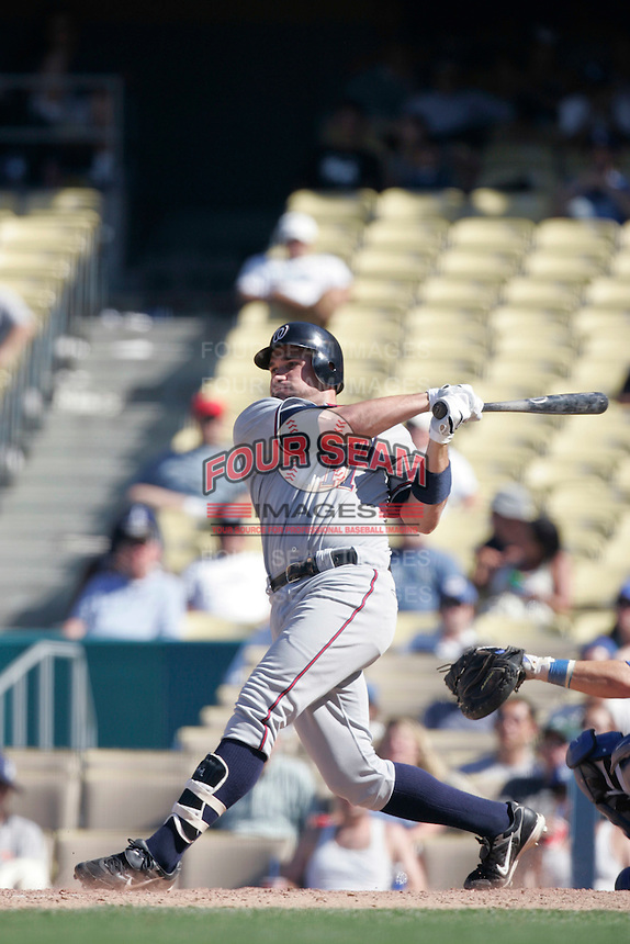 Ryan Zimmerman of the Washington Nationals during a game from the 2007 season at Dodger Stadium in Los Angeles, California. (Larry Goren/Four Seam Images)