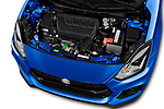 Car stock 2018 Suzuki Swift Sport Base 5 Door Hatchback engine high angle detail view