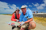 Father Daughter Fly Fishing in Christmas Island