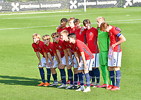 Norwegian players pictured during a soccer game between the national teams Under17 Youth teams of  Norway and Luxemburg on day 2 in the Qualifying round in group 3 on saturday 9 th of October 2020  in Tubize , Belgium . PHOTO SPORTPIX   DAVID CATRY