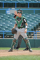 University of South Florida Bulls catcher Levi Borders (12) during a game against the Temple University Owls at Campbell's Field on April 13, 2014 in Camden, New Jersey. USF defeated Temple 6-3.  (Tomasso DeRosa/ Four Seam Images)