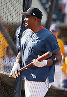 Coach Leon Durham of the Toledo Mudhens during batting practice before the Triple-A All-Star Game at Fifth Third Field on July 10, 2006 in Toledo, Ohio.  (Mike Janes/Four Seam Images)