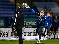 Bolton Wanderers' Billy Crellin warming up before the match  <br /> <br /> Photographer Andrew Kearns/CameraSport<br /> <br /> The EFL Sky Bet League Two - Bolton Wanderers v Salford City - Friday 13th November 2020 - University of Bolton Stadium - Bolton<br /> <br /> World Copyright © 2020 CameraSport. All rights reserved. 43 Linden Ave. Countesthorpe. Leicester. England. LE8 5PG - Tel: +44 (0) 116 277 4147 - admin@camerasport.com - www.camerasport.com